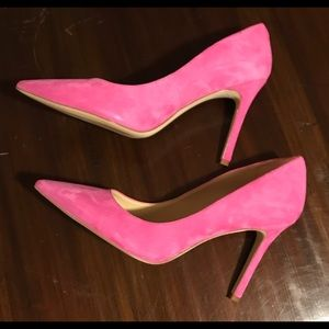 Sam Edelman Pink Suede Hazel Pumps